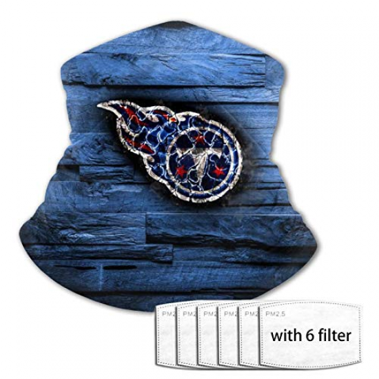 Face Mask Tennessee-Titans Teenagers Variety Face Towel Balaclava Multifunctional Neck Headwear Reusable Unisex for NFL Team Tennessee Titans Black,White,Blue,Red